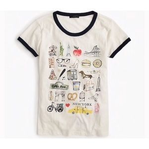J. Crew New York Destination Collectors Tee NWT XS